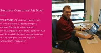 Als Digital Business Consultant bij Mixit