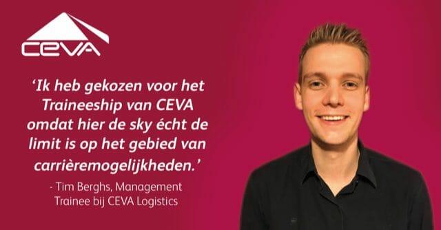 Tim vertelt over zijn huidige rol binnen het CEVA Traineeship